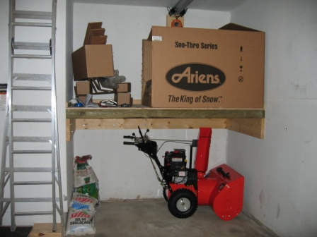 With The Snowblower Under The Shelf There S Enough Room